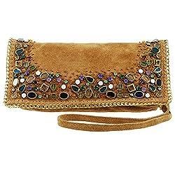 Rambling Stones Suede Cross-body Handbag