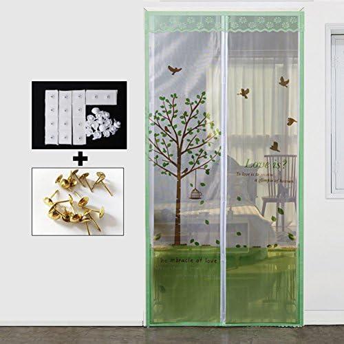 LJ&XJ Verano Anti-Mosquito magnética Pantalla Puerta,Decoración Dormitorio Living Comedor Cocina Partición Suave Mejor Sellado Puerta Malla Cortina de la Tela-S 120x210cm(47x83inch): Amazon.es: Hogar