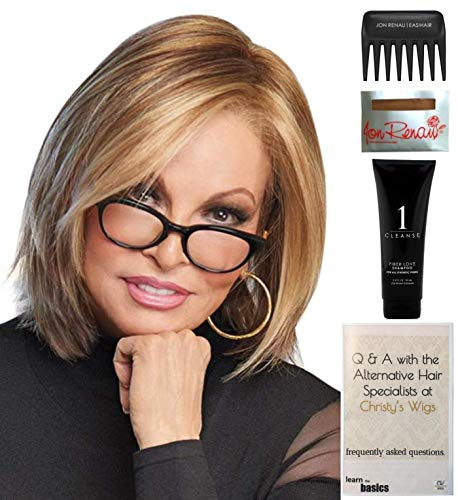 (Bundle - 5 Items: Play it Straight Wig by Raquel Welch, Christy's Wigs Q & A Booklet, 2oz Travel Size Wig Shampoo, Wig Cap & Wide Tooth Comb - Color: R29S+)