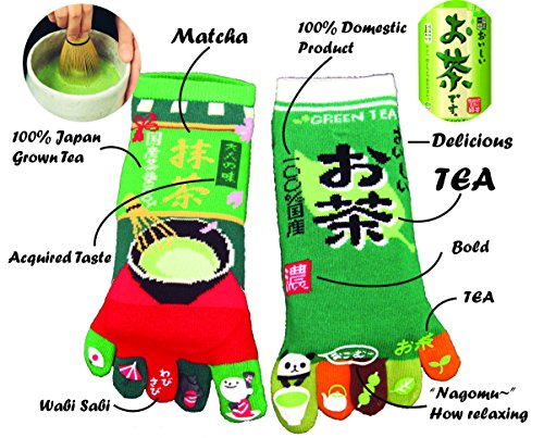 king-original-japanese-five-toe-ankle-socks-2-pairs-green-tea-and-macha