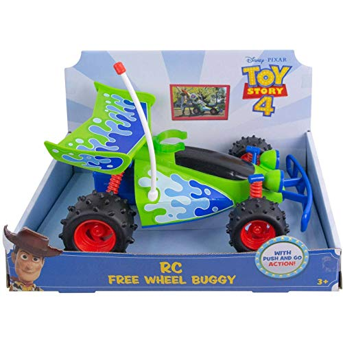 Toy Story Disney Pixar RC Free Wheel Buggy Car (Rc Toy Story Remote Control Car)