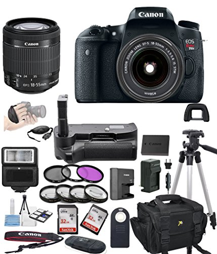 Canon EOS Rebel T6S Digital SLR Camera w/ EF-S 18-55mm Bundle includes Camera, Lenses, Filters, Bag, Memory Cards, Remote, Power Grip, Tripod ,and More - International Version by ALS VARIETY