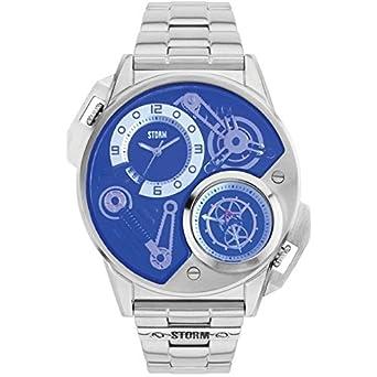 Storm London dualtron Lazer Blue Montre Homme Acier Inoxydable Special  Edition Argent 47229 LB 0a0cbf33b76