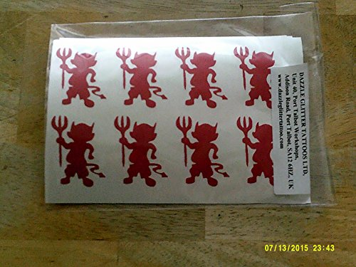 30 x red devil stickers for a scary