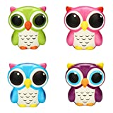 : Icocol Squishy Stress Toys Adorable Owl Squishies Slow Rising Cartoon Doll Cream Scented Stress Relief Toy