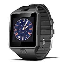 DZ09 Bluetooth Smart Watch with Camera for Samsung S5 / Note 2 / 3 / 4, Nexus 6, Htc, Sony and Other Android Smartphones, Black (Black Band)
