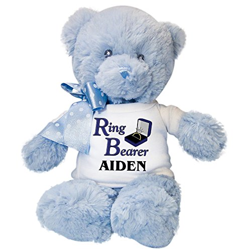 Ring Bearer Personalized blue Teddy (Ring Bearer Bear)