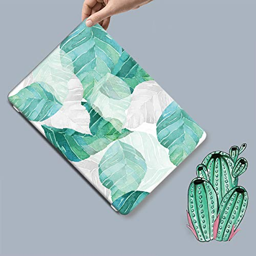 Batianda Gradient Green Banana Leaves Tropical Plants Design Watercolor Painted Protective Hard Case Cover for MacBook Air 13 inch Model Number A1369/A1466 with Keyboard Skin by Batianda (Image #4)