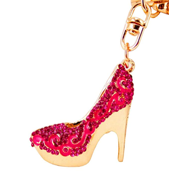 Amazon.com: Llavero con diseño de zapatos de tacón alto para ...