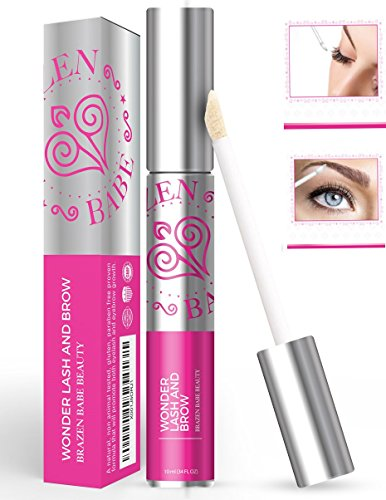 Powerful Clinically Proven Rapid Eyelash Serum Formula | Wonder Lash & Brow Quickly Grows Your Own Lush, Long, Robust Lashes & Eyebrows, Guaranteed, w/ Apple Stem Cells, Coconut Castor Oil & Pro Vit E