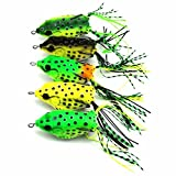 Best The Jumping Frog Meals - Paddsun Hollow Frog Fishing Lures Soft Topwater Baits Review