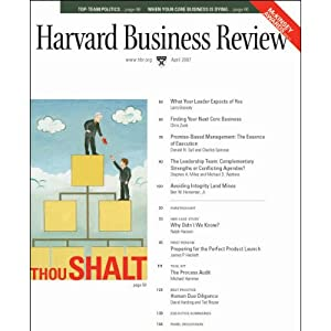 Harvard Business Review, April 2007 Periodical