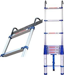 Escalera telescópica de extensión de aluminio con gancho Escalera plegable multiusos Escalera de mano portátil Escalera telescópica de seguridad Azul for techo tipo loft Carga de techo exterior 150kg: Amazon.es: Hogar
