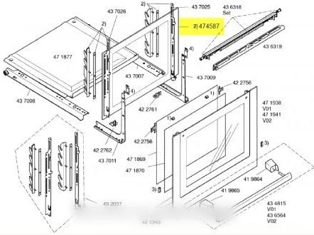 Siemens – Cristal Interieure puerta corredera para horno Siemens – bvmpièces: Amazon.es: Grandes electrodomésticos