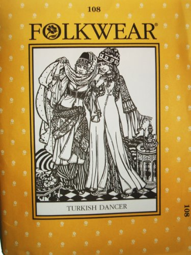 Folkwear #108 Turkish Dancer Entari Robe Jacket Vest Sewing Costume Pattern