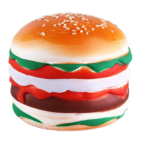 Beautymei Newest Slow Rising Jumbo Squishy Toys Kawaii Squishies Decompression Toys Stress Relief (Hamburgers)