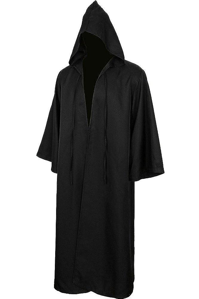 BeautifulTimes Adult & Kids Halloween Jedi Robe Costume Tunic Hooded Cloak Cape