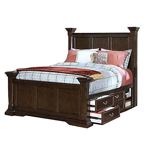 New Classic 00-007-300 Timber City Wood Panel Queen Storage Bed - bedroomdesign.us