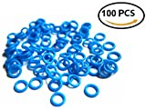 Wacky Worm Rig Tool Or Wacky O-Rings For Wacky Rigging Plastic Senko Style Worms & StickBaits Includes Lanyard (100 Pcs Blue O-rings)