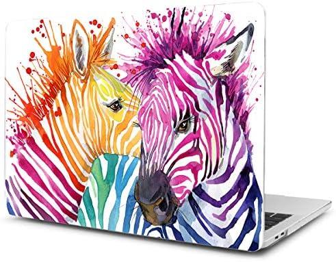 TwoL Carcasa MacBook 12 Pulgadas, Funda Dura Carcasa para MacBook 12 Pulgadas A1534 Cebra Acuarela
