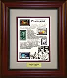 American Stamp Art by Creative Framing Pharmacist - Unique Framed Collectible (A Great Gift Idea) with Personalized Engraved Plate
