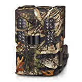 WOSPORTS Trail Camera HD 1080P Hunting Game Camera, Waterproof Scouting Cam with 850nm Motion Activated Night Vision Outdoor Video Camera for Wildlife Monitoring/Home Security,T106