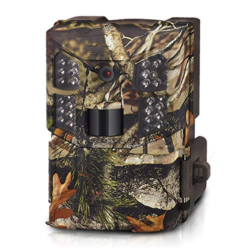 WOSPORTS Trail Camera HD 1080P Hunting Game Camera, Waterproof Scouting Cam with 850nm Motion Activated Night Vision Outdoor Video Camera for Wildlife Monitoring/Home Security from WOSPORTS
