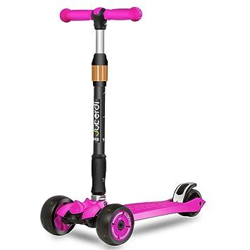 Lvbeis Patinete Tres Ruedas Niño Plegable Scooter Altura Ajustable para 2 A 10 Años,Pink: Amazon.es: Deportes y aire libre
