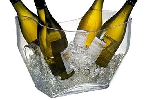 Prodyne AB-14 On On Ice Beverage Tub, 12.5'' x 8.5'', Clear by Prodyne