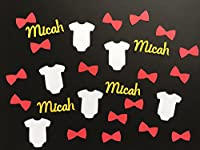 It's A Boy Personalized Baby Shower Confetti - 300 pieces including onesies, bowties, and name confetti