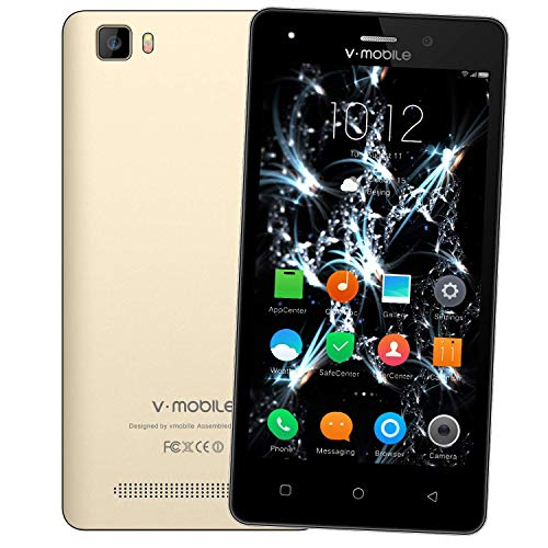 Unlocked Cell Phones v mobile A10-N Cheap Smartphones Unlocked Dual Sim 4G LTE Android 7, 5.0 inch 8 GB compatible ATT, Tmobile and other GSM Carriers