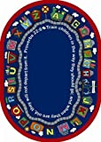 Faith Based Bible Train Kids Rug Rug Size: Oval 7'8'' x 10'9''