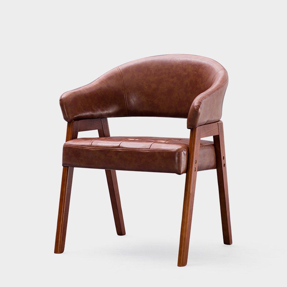 ZEMIN Stuhl Sofa Sitzhocker Tisch Rückenlehne Weich Gepolsterte Massivholz Armlehne Freizeit, 56,5 X 53 X 77 cm, 10 Farben Erhältlich (Farbe : J)