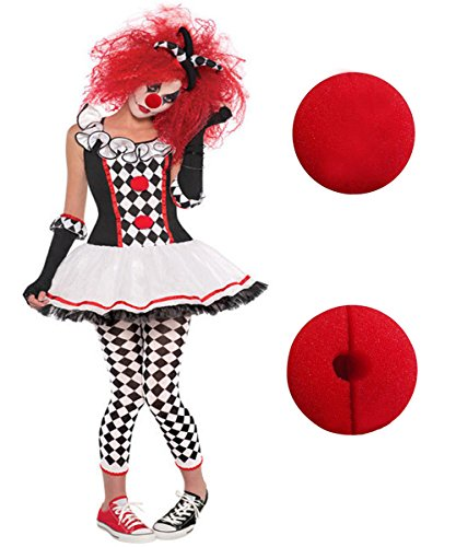 Halloween Clown Costumes Evil Jester Joker Makeup Harlequin Honey Costume Pantomime Mime Creepy Cosplay Cosplay Outfit With Circus Sweetie Clown Nose