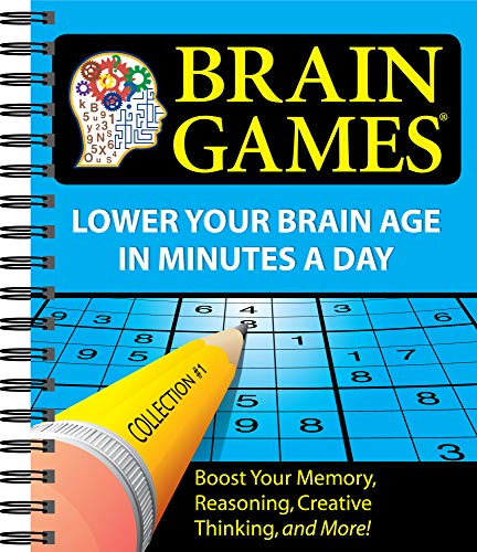 Brain Games #1: Lower Your Brain Age in Minutes a Day (Volume 1) (Best Brain Games To Improve Memory)