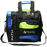 Pyramid Path Deluxe Single Tote - Lime Green/Royal Blue
