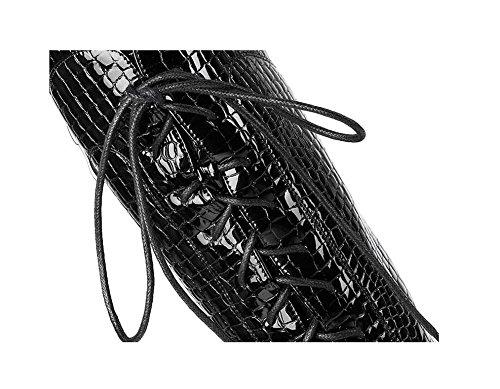 ginocchio ginocchio Personalità coscia coscia piattaforma Cross cinturino Stivali lunghi 37 Overthe alta le Stone donne PCx4PUZ