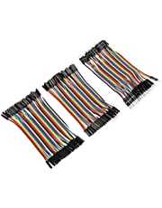 Breadboard Jumper Wires 40pin M to F / 40pin M to M / 40pin F to F 10cm Jumper Wires Kit for Breadboard 3 Pcs