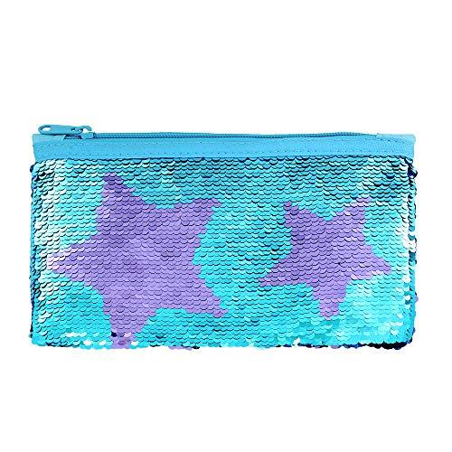 Cute Pencil Case for Girls Kids Mermaid Sequin Pencil Pouch...