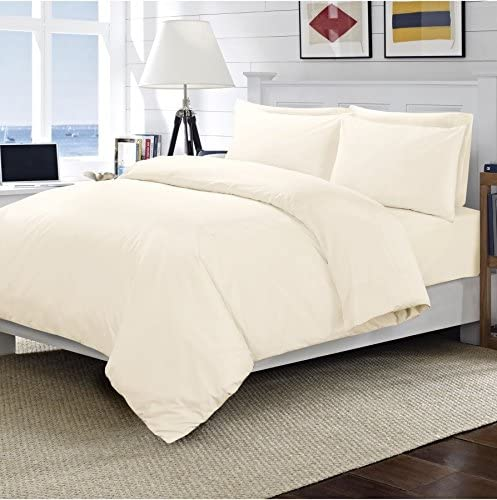 Catherine Lansfield Home 200 Thread Count Cotton Egyptian King Quilt Cover Cream