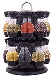 K&A Company Revolving Spice Rack Rotating Herb Countertop Jar 16 Storage Organizer Kitchen Display Organization New Carousel
