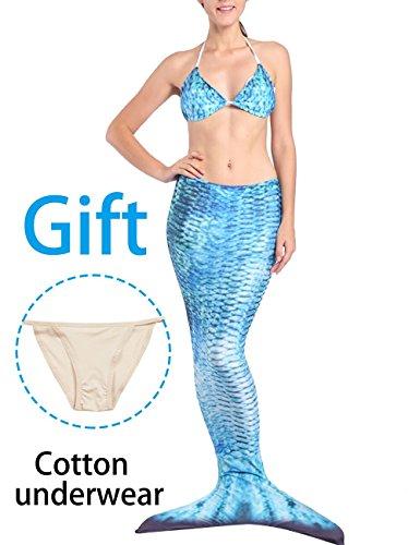 3PCS Mermaid Tail for Swimming for Adults Girls Swimwear Bikini Swimsuit for $<!--$24.99-->