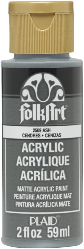Dimensions Plaid:Craft FA-2569 Folk Art Acrylic Paint 2-Ounce Ash
