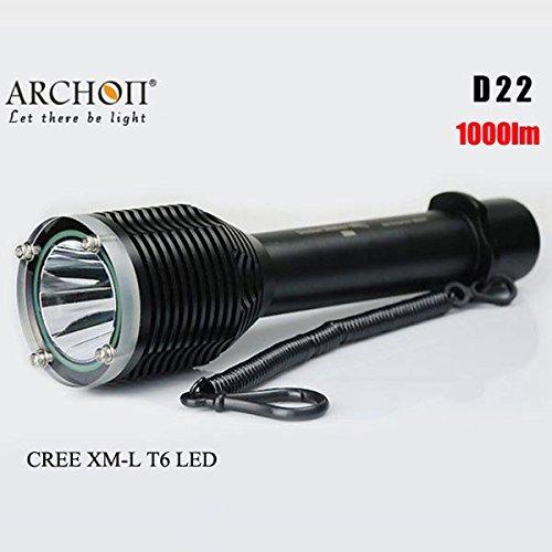 Bazaar ARCHON D22 CREE XM-L T6 1000LM 100M Tauchen LED Taschenlampe