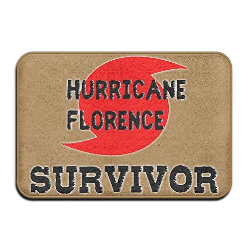 (Non Slip Door Mat Outdoor, Decorative Garden Office Bathroom Door Mat, Dining I Survived Hurricane Florence Floor Mat)