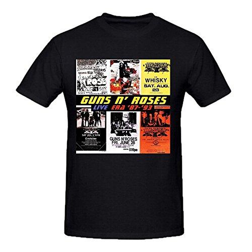 [Guns N Roses Live Era 87 Mens 3x Tee Shirts Crew Neck Black] (70s Era Clothing)