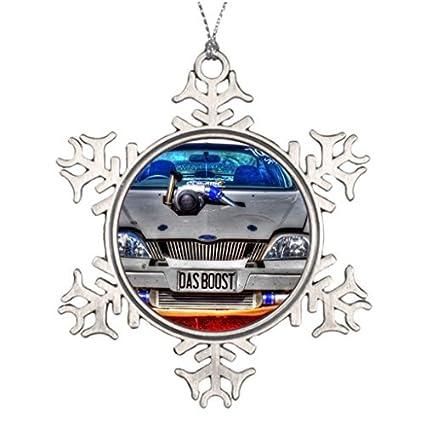 Metal adornos arrastre coche Turbo coche árboles de Navidad decorado de Navidad Ideas