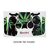 Skins for PS4 Controller - Decals for Playstation 4 Games - Stickers Cover for PS4 Slim Sony Play Station Four Controllers PS4 Pro Accessories PS4 Remote Wireless Dualshock 4 Skin - Weeds Black