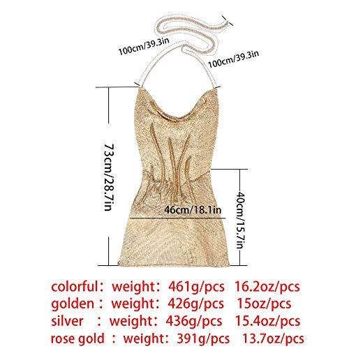 Profondità Rosa Silver Donne Colorate Paillettes Matita Blu In Dress Gold Glam Mini Cocktail V Glitter Argento Back Abito Sexy Oro Sling Aperto Bodycon Oro Partito Shimmer Dress 6BFwxqqd5