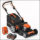 "Yard Force 120vRX Lithium-Ion 22"" Self-Propelled 3-in-1 Mower with Torque-Sense Cutting Control - COMPLETE with 2 Batteries and Fast Charger included"
